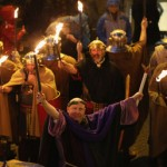 Enthusiasts And Reenactors Parade Through The Streets Of Chester As Part Of Their Roman Saturnalia Festival Celebrations