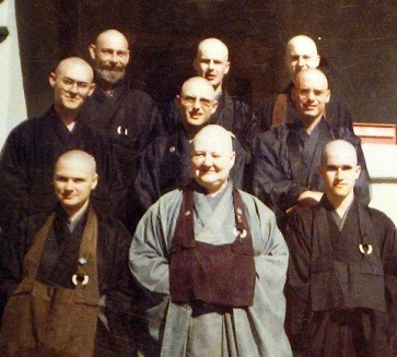 James ordination picture with Jiyu Kennett 1970