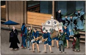 Zen funeral procession