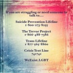 Crisis Facing our LGBTQ+ Members