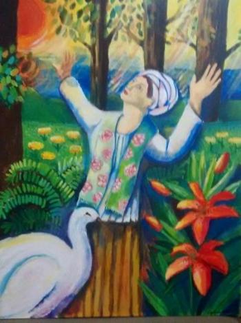Painting by Stephenie Bushra Khan