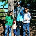 My kids and I last fall