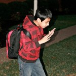 Daanish with backpack