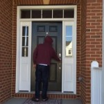 D knocking on Nanijan's (his grandmother) door
