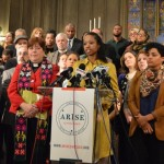 Prof. Larycia Hawkins at an interfaith press conference