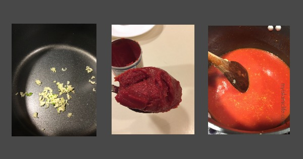 Photos I took while cooking.