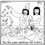 the new pope addresses the faithful cartoon by nakedpastor david hayward