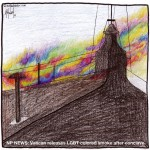 Vatican releases LBGT colored smoke after conclave