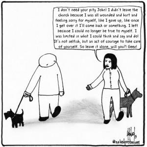 no pity party cartoon by nakedpastor david hayward