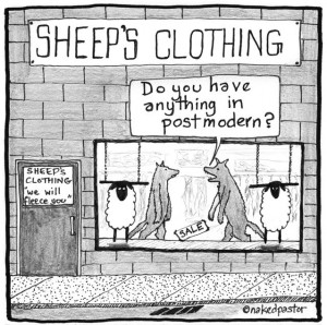 postmodern wolf cartoon by nakedpastor david hayward