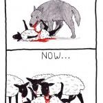 sheep then and now cartoon by nakedpastor david hayward