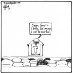 god is a bully cartoon by nakedpastor david hayward