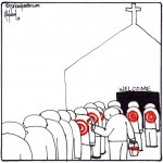 welcome to target christians cartoon by nakedpastor david hayward