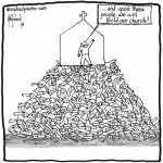 a mountain of harmed people cartoon by nakedpastor david hayward