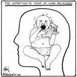 babies for brains believers mind cartoon by nakedpastor david hayward