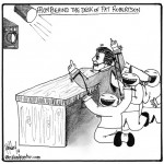 pat robertsons desk cartoon by nakedpastor david hayward