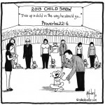 training a child cartoon by nakedpastor david hayward