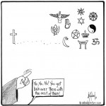 all religions cartoon by nakedpastor david hayward