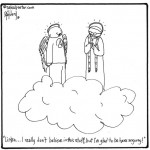 atheists in heaven cartoon by nakedpastor david hayward