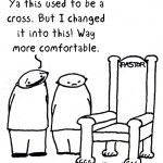 from cross to comfort cartoon by nakedpastor david hayward
