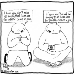 jesus and buddha cartoon by nakedpastor david hayward