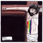 rainbow blood of jesus cartoon by nakedpastor david hayward