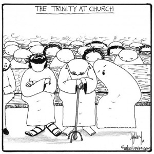 THE TRINITY AT CHURCH (drawing by nakedpastor David Hayward)