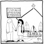 church and loneliness cartoon by nakedpastor david hayward