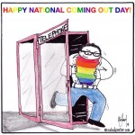 Happy National Coming Out Day Cartoon