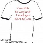 "really bad Christian t-shirt idea: ""iTithe"""