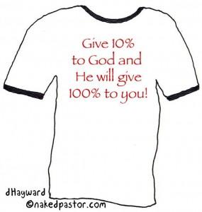 """""""iTithe t-shirt"""" (by nakedpastor David Hayward)"""