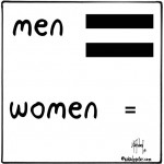 men more equal cartoon by nakedpastor david hayward