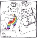 united methodist church book of discipline gay bashing cartoon by nakedpastor david hayward