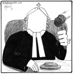 church as judge cartoon by nakedpastor david hayward