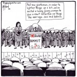 will theological men share the microphone with women cartoon by nakedpastor david hayward