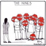 the nein nines cartoon by nakedpastor david hayward