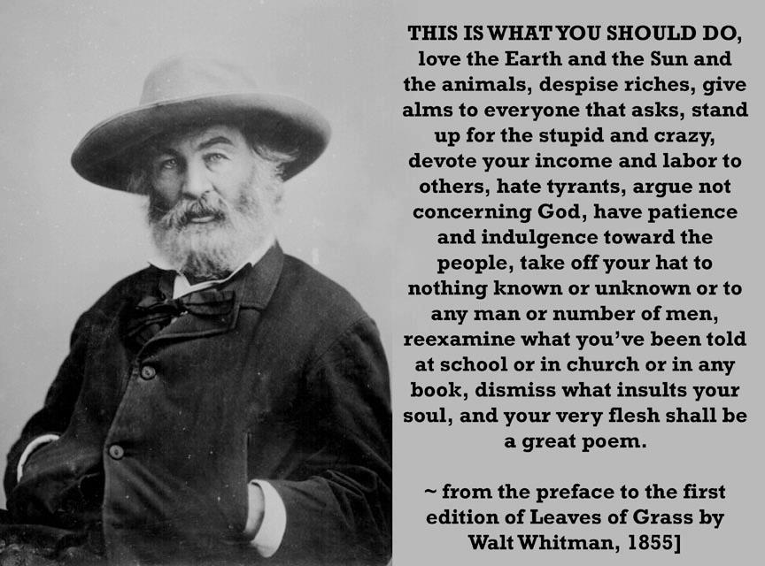 Walt Whitman you