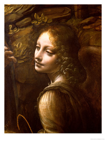 From Leonardo Da Vinci's Virgin of the Rocks Angel