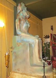 Sekhmet statue in Temple - courtesy of Karen Tate