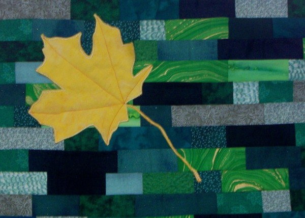 Fall Leaf quilt photo from Erica Baron