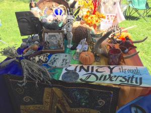 CUUPS Altar at Albuquerque Pagan Pride. Photo by Peter Dybing.