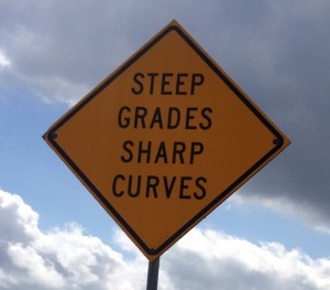 steep grades sharp curves