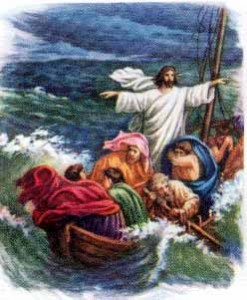 jesus in the storm