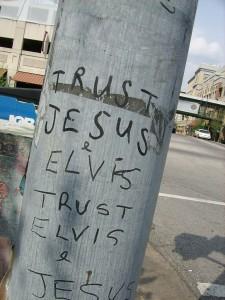 trust jesus elvis