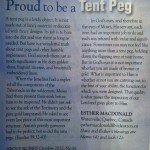 Proud to be a Tent Peg