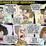 Typical responses as to why ACA is wrong. Cartoon by Mad magazine contributor Monte Wolverton