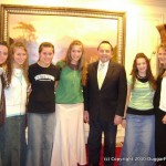 The Duggar daughters with Bill Gothard
