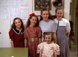 The Duggar daughters swimming in a sea of cotton fabrics.