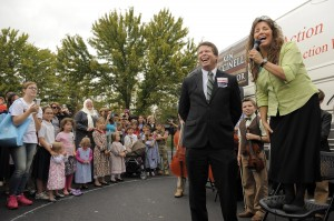 From the Washington Post - The Duggars out campaigning for Ken Cuccinelli and EW Jackson in 2013. Both candidates lost their elections. So much for Duggar star power.