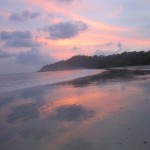 Sunset at the beach in Quipos, Costa Rica - image by Suzanne Titkemeyer